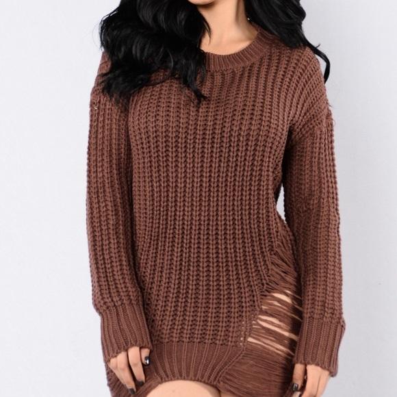 b6ca21e262 Fashion Nova Dresses   Skirts - Fashion Nova Unraveled Sweater Dress